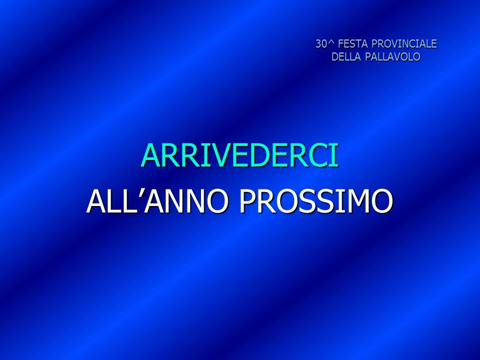 30^ FESTA PROVINCIALE DELLA PALLAVOLO ARRIVEDERCI ALL'ANNO PROSSIMO