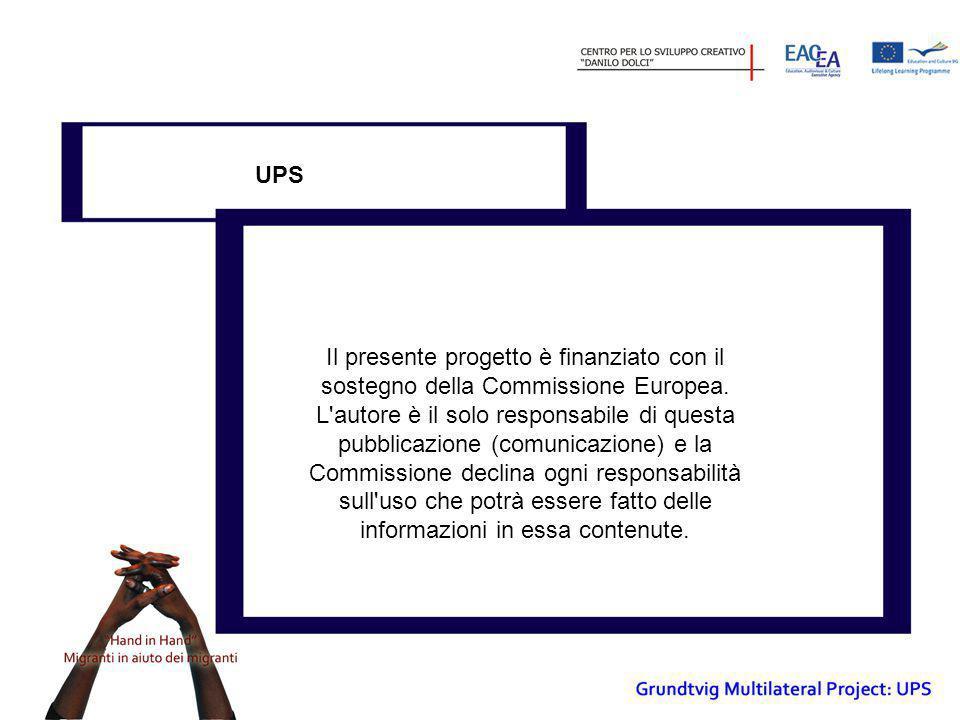 Il presente progetto è finanziato con il sostegno della Commissione Europea. L'autore è il solo responsabile di questa pubblicazione (comunicazione) e