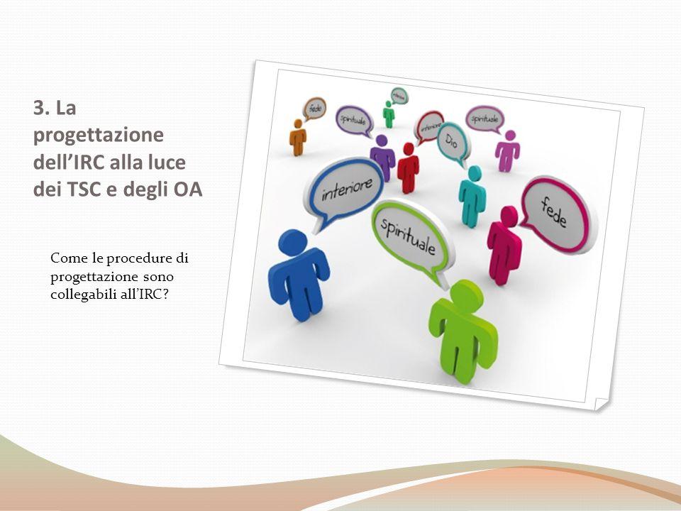 3. La progettazione dell'IRC alla luce dei TSC e degli OA Come le procedure di progettazione sono collegabili all'IRC?