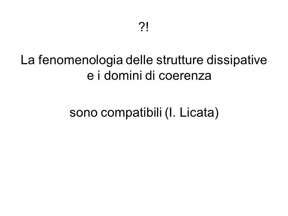 ?! La fenomenologia delle strutture dissipative e i domini di coerenza sono compatibili (I. Licata)