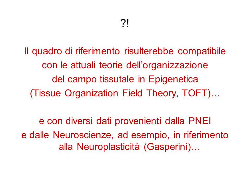 ?! Il quadro di riferimento risulterebbe compatibile con le attuali teorie dell'organizzazione del campo tissutale in Epigenetica (Tissue Organization