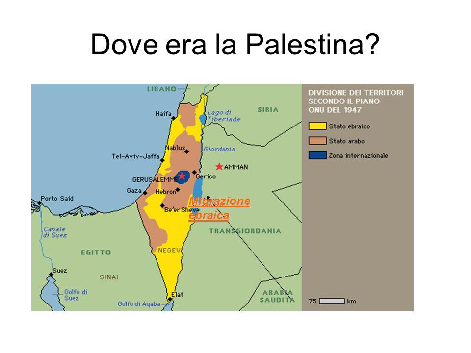Dove era la Palestina? Migrazione ebraica