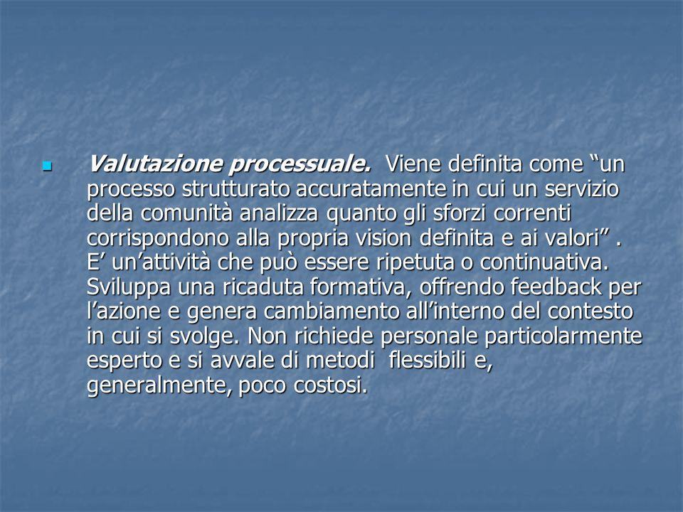  Valutazione processuale.