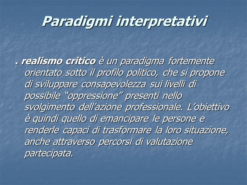 Paradigmi interpretativi.