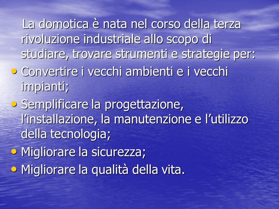 """La Domotica: la tecnologia innovativa Domotica è un neologismo di recente impiego in Italia e all'estero, è storicamente deriva dal francese """"domotiqu"""