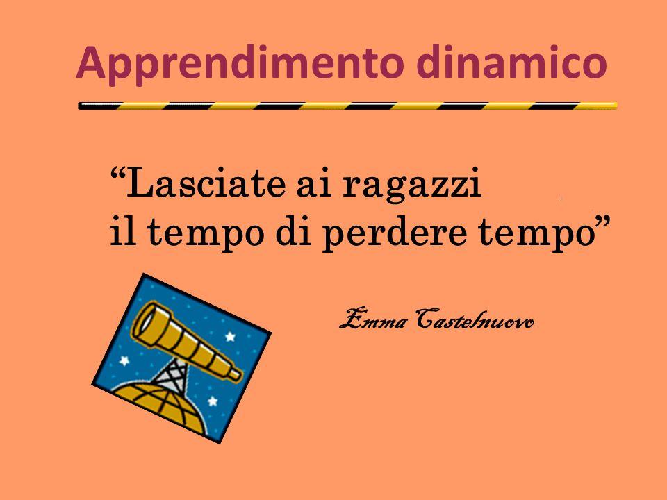 """Apprendimento dinamico """"Lasciate ai ragazzi il tempo di perdere tempo"""" Emma Castelnuovo"""