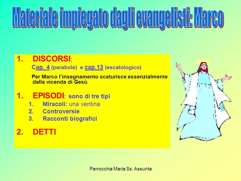 Parrocchia Maria Ss.Assunta 1.DISCORSI : Cap.