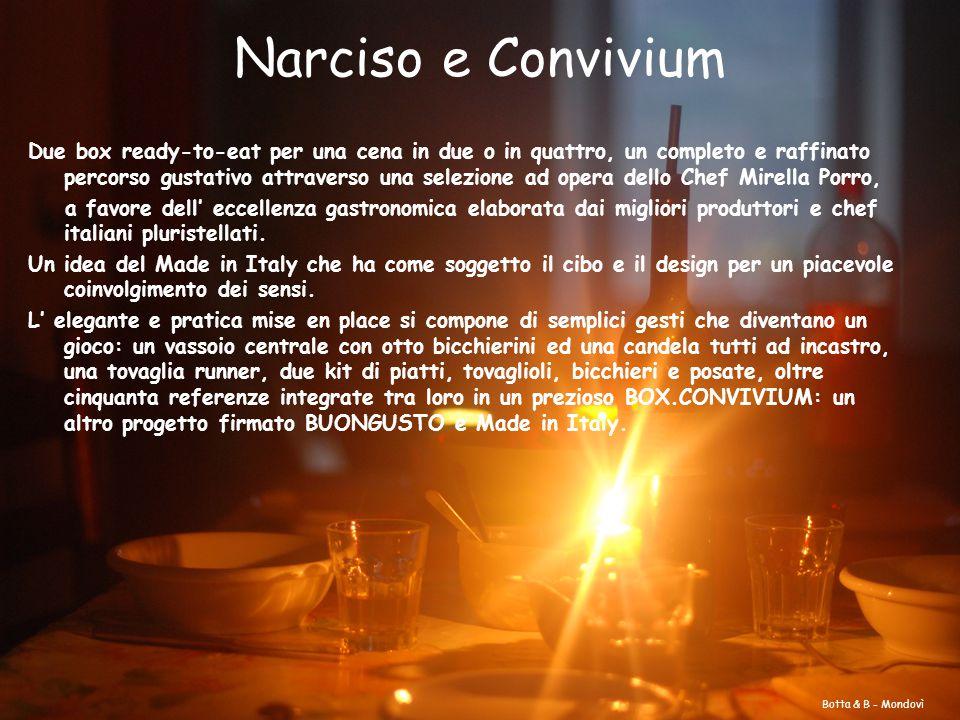 Narciso e Convivium Due box ready-to-eat per una cena in due o in quattro, un completo e raffinato percorso gustativo attraverso una selezione ad oper