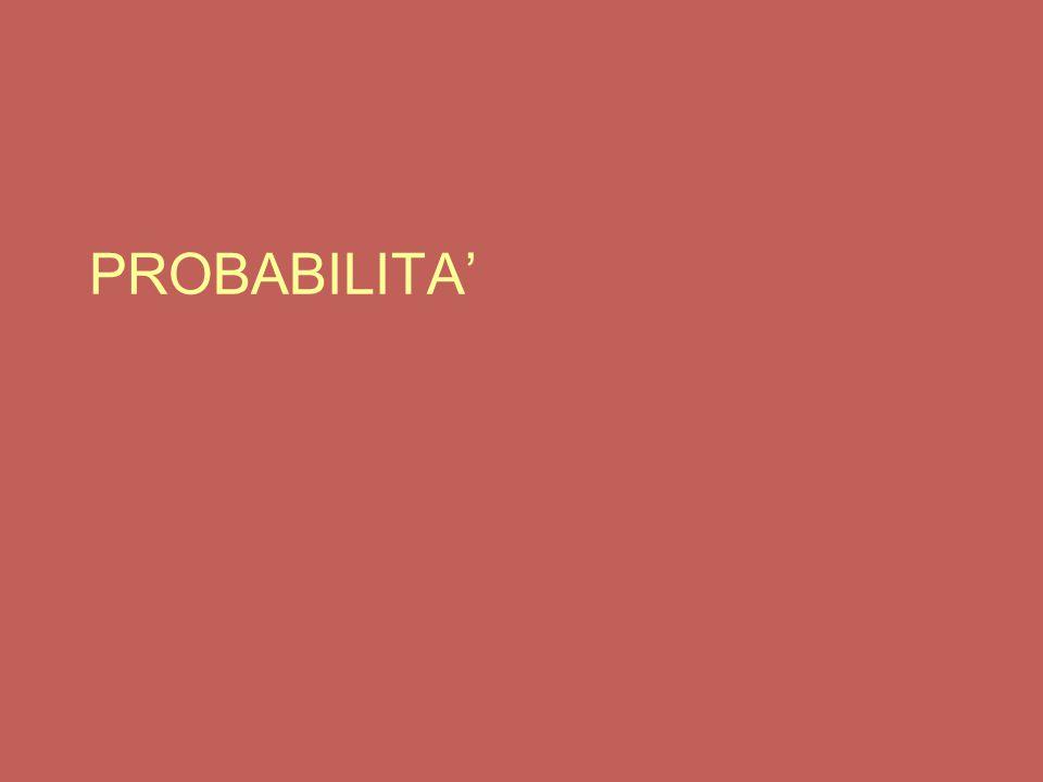 Principio della probabilità totale (enunciato generale) Dati due eventi A e B  S P(A o B) = P(A) + P(B) - P(A e B) ove P(A e B) è la probabilità di ottenere contemporaneamente sia A, sia B.