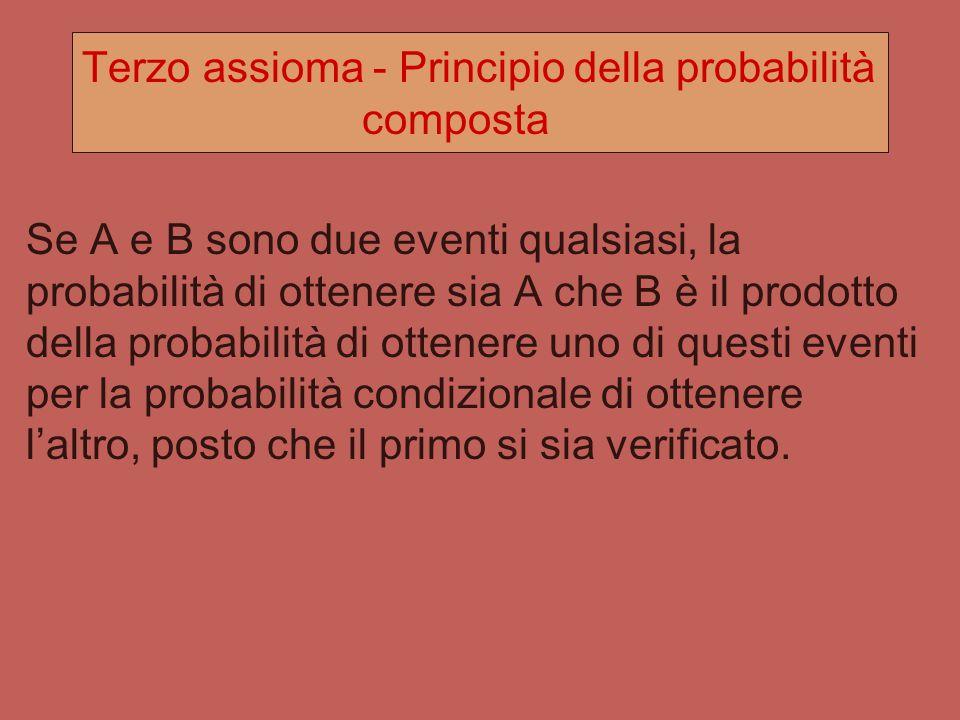 Attenzione Due eventi incompatibili, o mutualmente esclusivi NON SONO INDIPENDENTI! Infatti nel caso di eventi incompatibili abbiamo: P(B A) = P(A B)