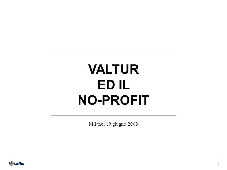 1 Milano, 19 giugno 2008 VALTUR ED IL NO-PROFIT