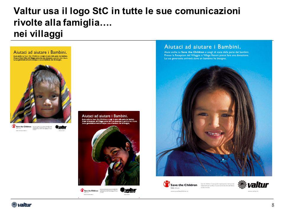 9 Valtur usa il logo StC in tutte le sue comunicazioni rivolte alla famiglia….