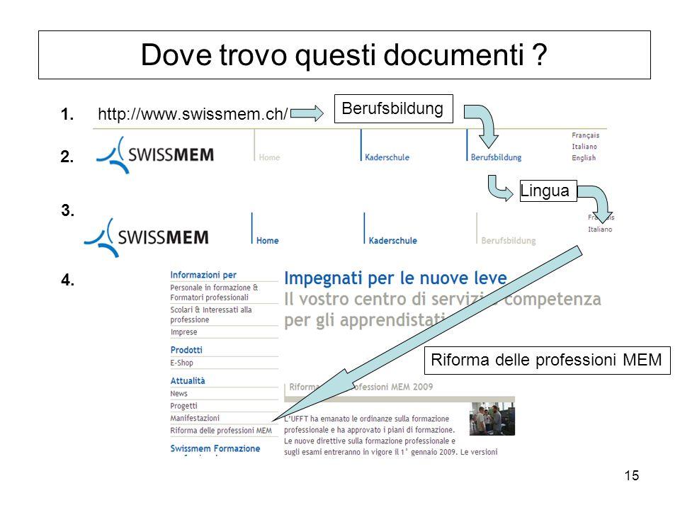 15 Lingua Dove trovo questi documenti .