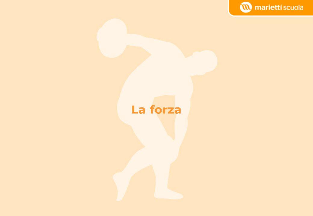 La definizione di forza Per forza s'intende la capacità dell'apparato neuro- muscolare di vincere o contrapporsi a un carico esterno con un impegno muscolare.