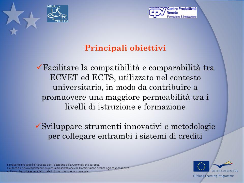 Il presente progetto è finanziato con il sostegno della Commissione europea.