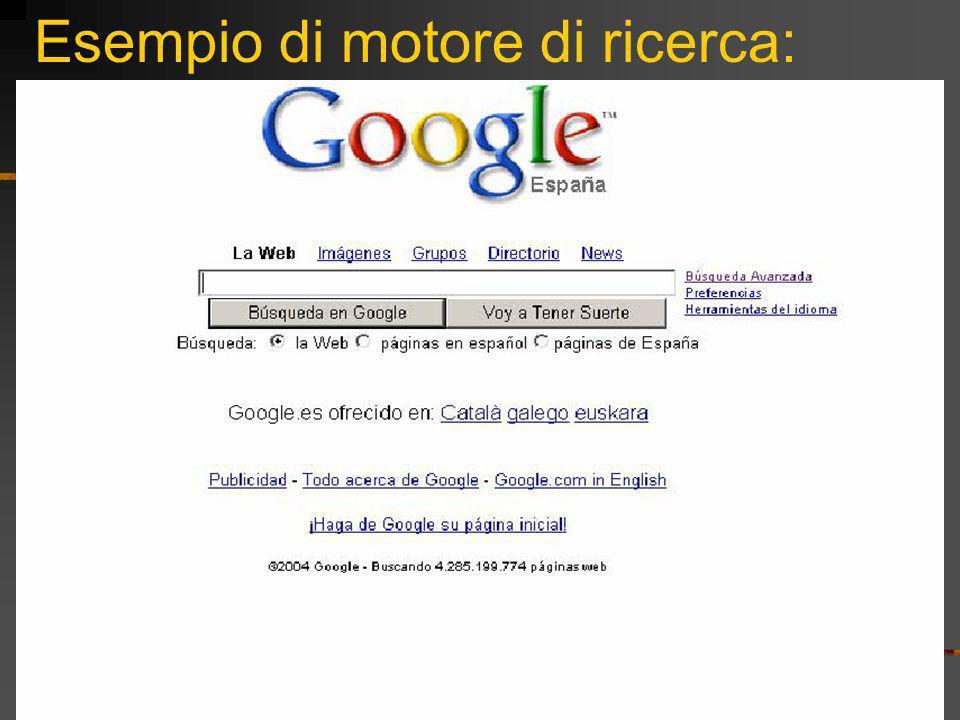 Esempio di motore di ricerca: