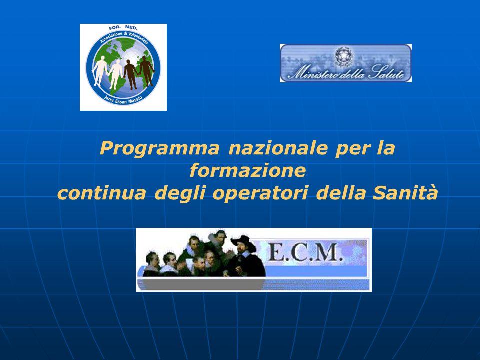 Programma nazionale per la formazione continua degli operatori della Sanità