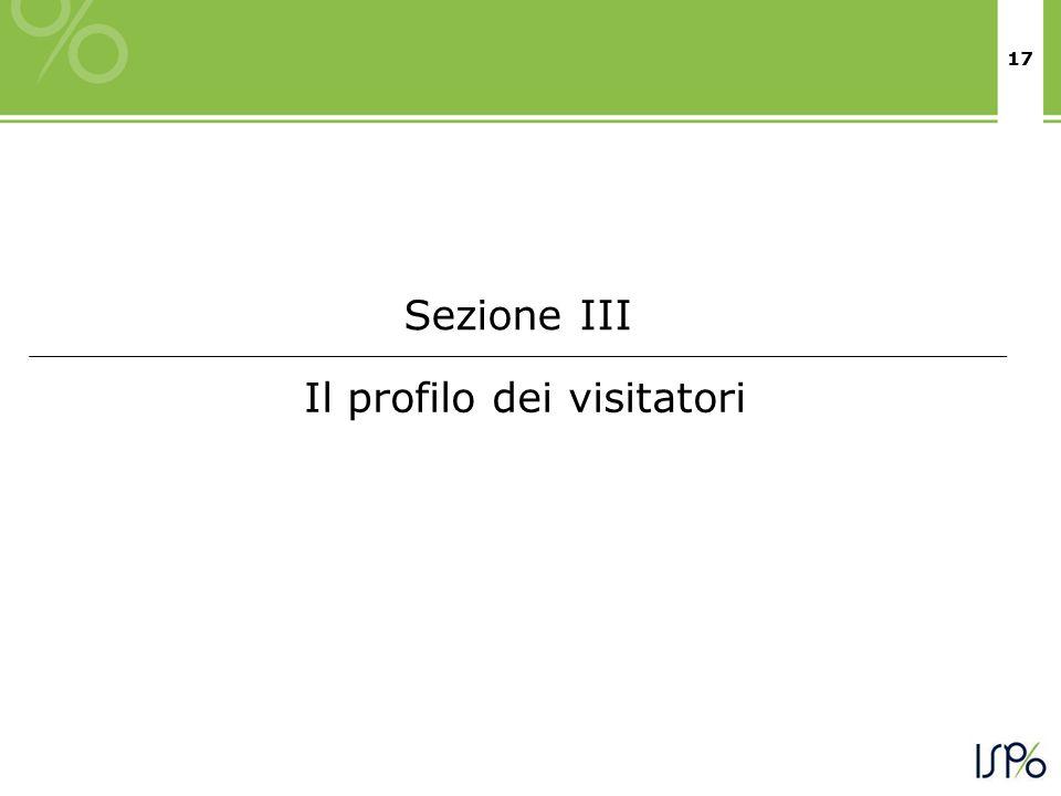 17 Il profilo dei visitatori Sezione III