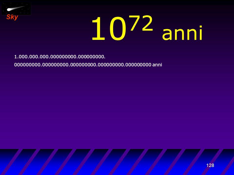 127 Sky 10 71 anni 100.000.000.000000000.000000000.