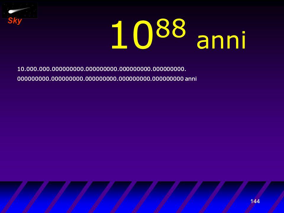 143 Sky 10 87 anni 1.000.000.000000000.000000000.000000000.000000000.