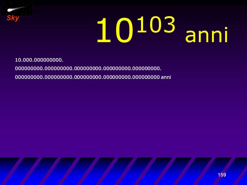 158 Sky 10 102 anni 1.000.000000000. 000000000.000000000.000000000.000000000.000000000. 000000000.000000000.000000000.000000000.000000000 anni Era bui