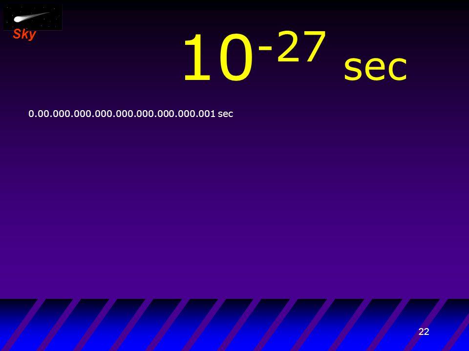 21 Sky 10 -28 sec 0.000.000.000.000.000.000.000.000.001 sec