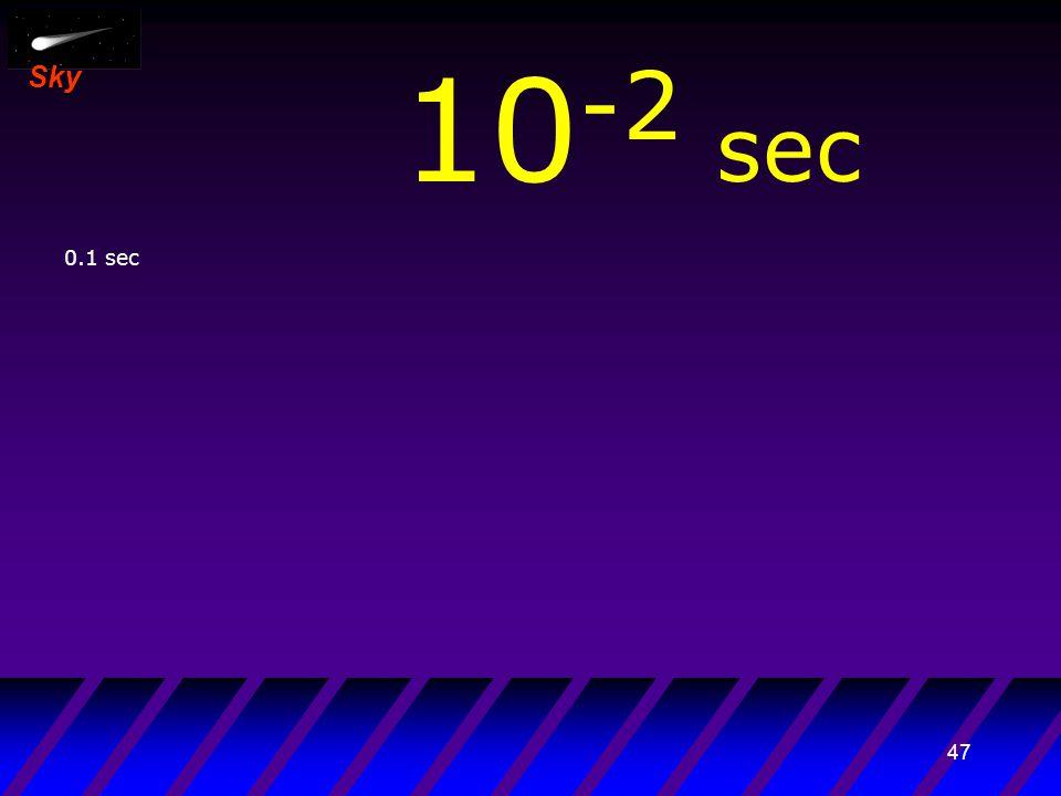 46 Sky 10 -3 sec 0.01 sec