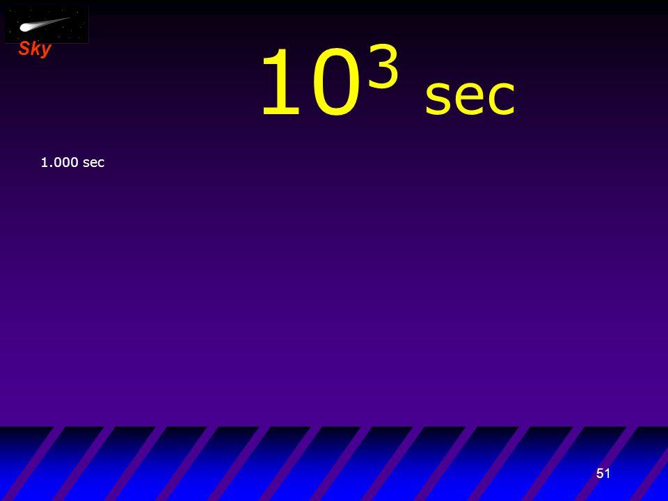 50 Sky 10 2 sec 100 sec Sintesi degli elementi leggeri