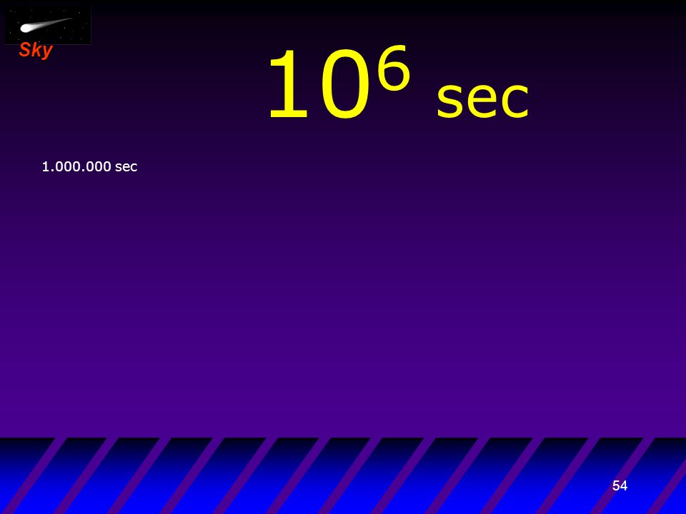 53 Sky 10 5 sec 100.000 sec