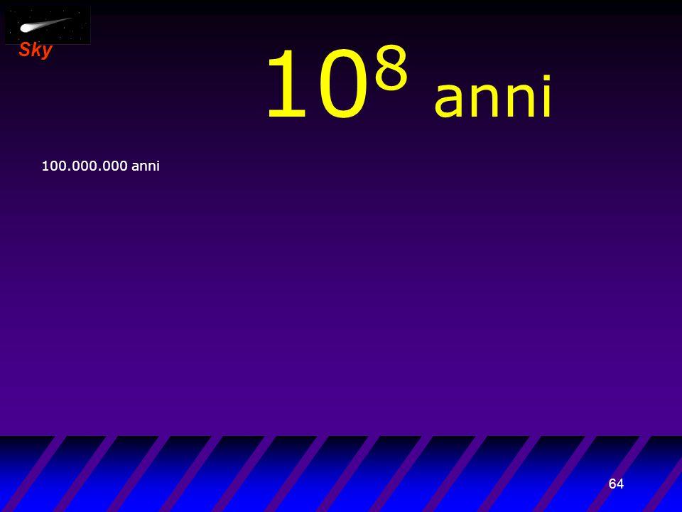 63 Sky 10 7 anni 10.000.000 anni