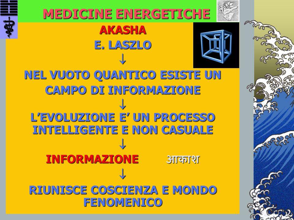 MEDICINE ENERGETICHE AKASHA E. LASZLO  NEL VUOTO QUANTICO ESISTE UN CAMPO DI INFORMAZIONE  L'EVOLUZIONE E' UN PROCESSO INTELLIGENTE E NON CASUALE 