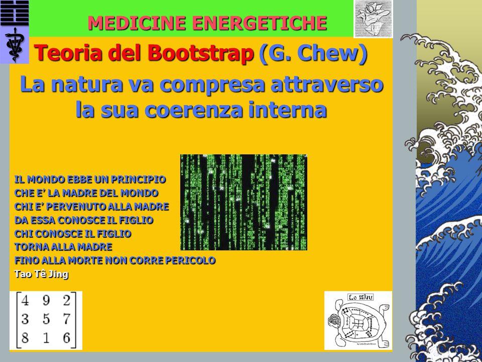 MEDICINE ENERGETICHE Teoria del Bootstrap (G. Chew) La natura va compresa attraverso la sua coerenza interna IL MONDO EBBE UN PRINCIPIO CHE E' LA MADR
