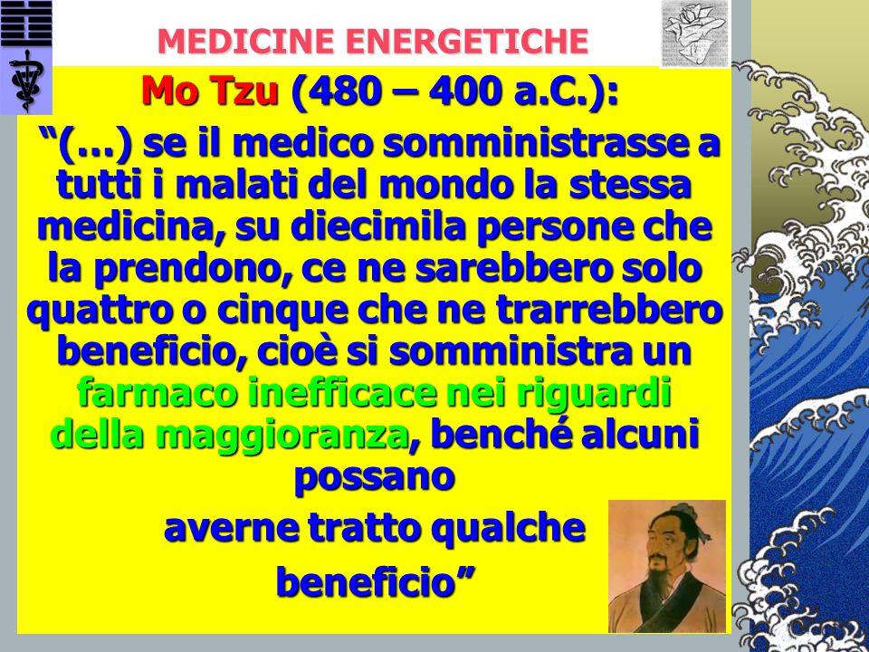 """MEDICINE ENERGETICHE Mo Tzu (480 – 400 a.C.): Mo Tzu (480 – 400 a.C.): """"(…) se il medico somministrasse a tutti i malati del mondo la stessa medicina,"""