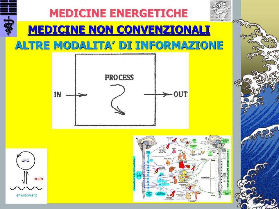MEDICINE ENERGETICHE MEDICINE NON CONVENZIONALI ALTRE MODALITA' DI INFORMAZIONE