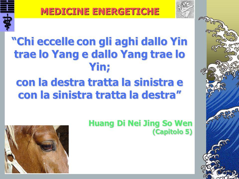 """MEDICINE ENERGETICHE """"Chi eccelle con gli aghi dallo Yin trae lo Yang e dallo Yang trae lo Yin; con la destra tratta la sinistra e con la sinistra tra"""
