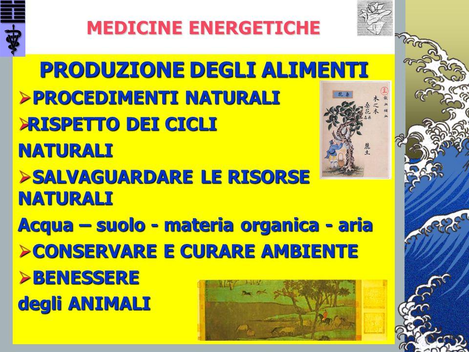MEDICINE ENERGETICHE MEDICINE ENERGETICHE PRODUZIONE DEGLI ALIMENTI  PROCEDIMENTI NATURALI  RISPETTO DEI CICLI NATURALI  SALVAGUARDARE LE RISORSE N