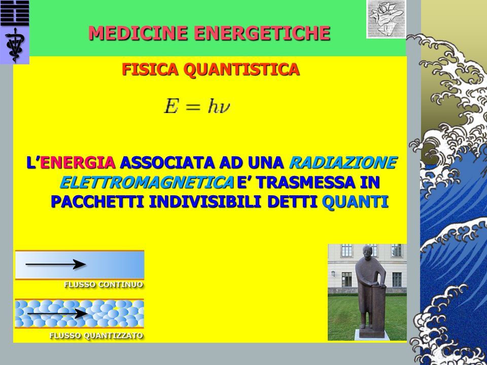 MEDICINE ENERGETICHE Mo Tzu (480 – 400 a.C.): Mo Tzu (480 – 400 a.C.): (…) se il medico somministrasse a tutti i malati del mondo la stessa medicina, su diecimila persone che la prendono, ce ne sarebbero solo quattro o cinque che ne trarrebbero beneficio, cioè si somministra un farmaco inefficace nei riguardi della maggioranza, benché alcuni possano (…) se il medico somministrasse a tutti i malati del mondo la stessa medicina, su diecimila persone che la prendono, ce ne sarebbero solo quattro o cinque che ne trarrebbero beneficio, cioè si somministra un farmaco inefficace nei riguardi della maggioranza, benché alcuni possano averne tratto qualche beneficio