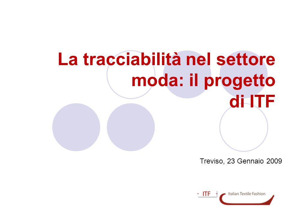 La tracciabilità nel settore moda: il progetto di ITF Treviso, 23 Gennaio 2009