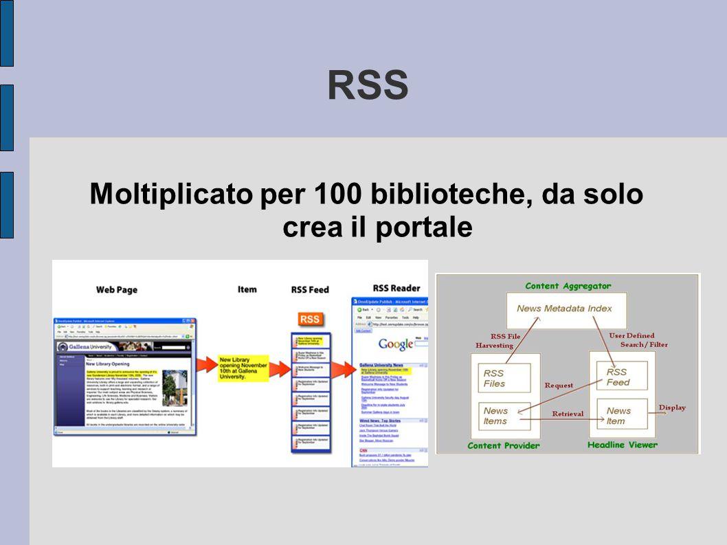 RSS Moltiplicato per 100 biblioteche, da solo crea il portale