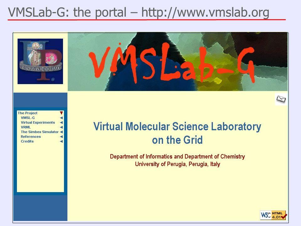 VMSLab-G: the portal – http://www.vmslab.org