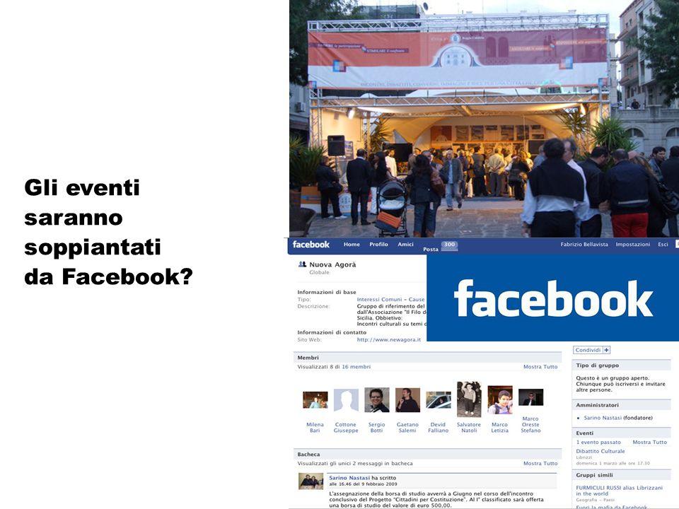 Gli eventi saranno soppiantati da Facebook