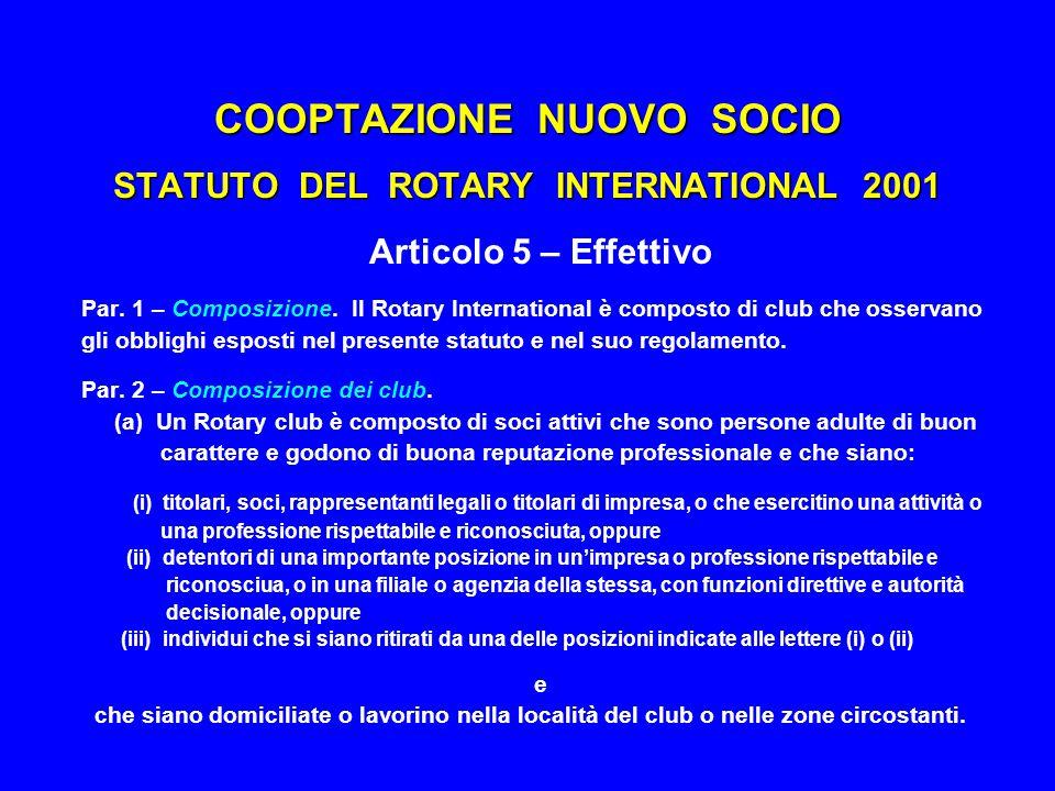 COOPTAZIONE NUOVO SOCIO PERCORSO RACCOMANDATO  Individuazione del candidato  Presentazione della proposta  Procedura di cooptazione