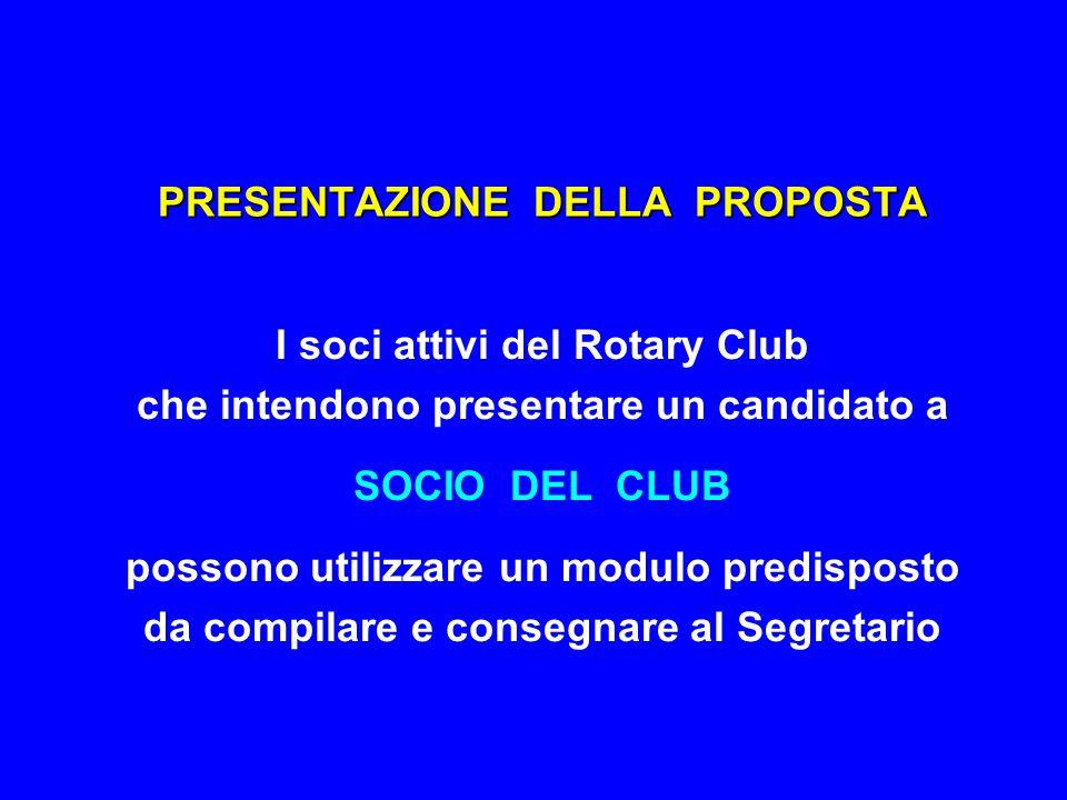 COOPTAZIONE NUOVO SOCIO MODULO DI PROPOSTA - A ROTARY INTERNATIONAL ROTARY CLUB di _________________________________ PROPOSTA DI AMMISSIONE NUOVO SOCIO Attenzione : - - Il candidato non deve essere al corrente di questa proposta.