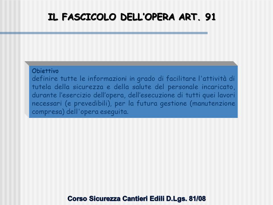 CONTENUTI DEL FASCICOLO - ESEMPIO Elenco interventi di manutenzione 1.