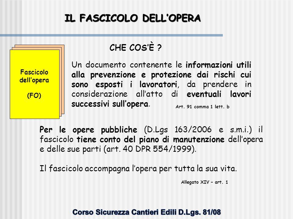 CONTENUTI TIPO DEL FASCICOLO Indietro
