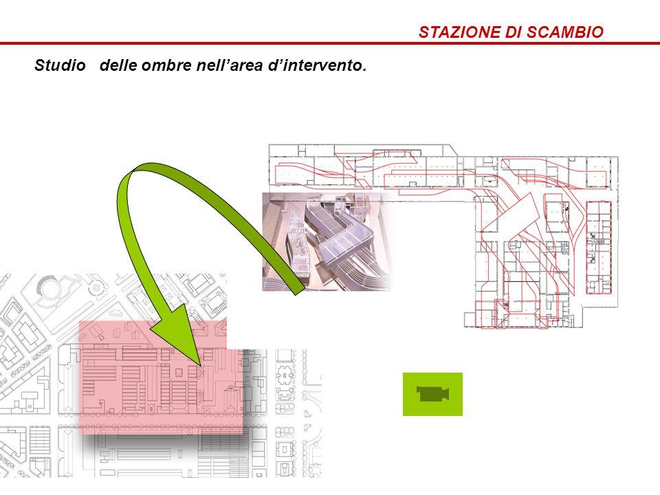 STAZIONE DI SCAMBIO Come nasce stazione di scambio? Studio delle ombre nell'area d'intervento.