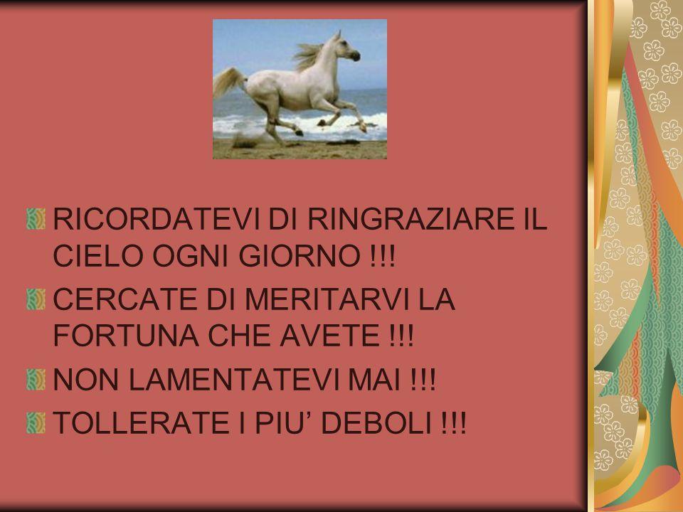 RICORDATEVI DI RINGRAZIARE IL CIELO OGNI GIORNO !!.