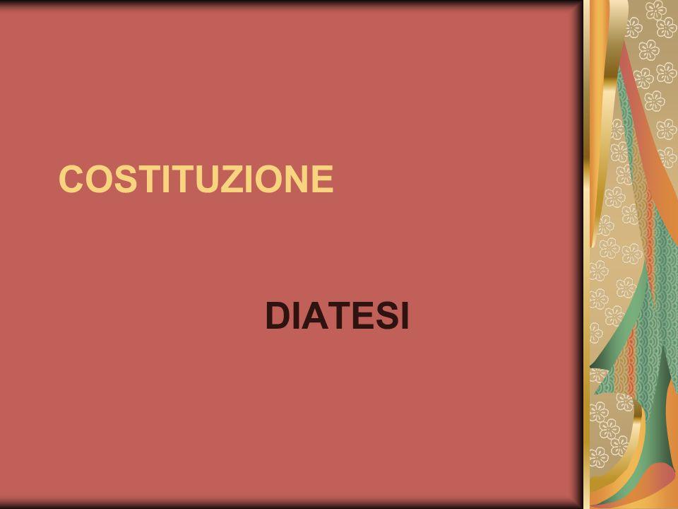 COSTITUZIONE DIATESI