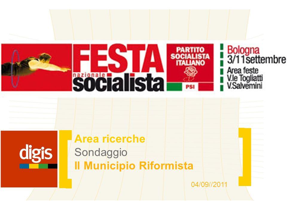 Area ricerche Sondaggio Il Municipio Riformista 04/09//2011