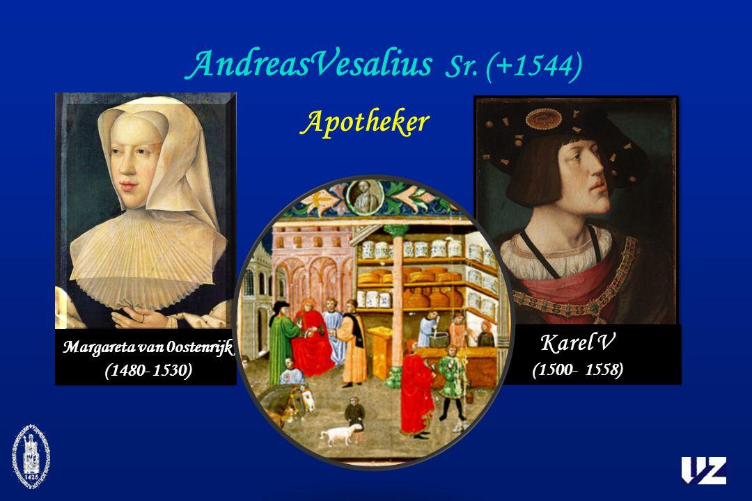 AndreasVesalius Sr. (+1544) Apotheker Margareta van 0ostenrijk (1480- 1530) Karel V (1500- 1558)